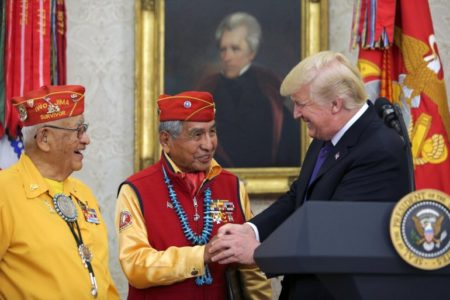 HAH-HAH! TRUMP Invites Navajo Indian Code Talkers to White House – Hurls Insult at Fake Indian Elizabeth Warren (VIDEO)