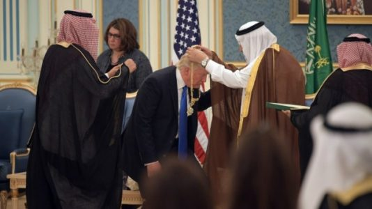 Trump receives royal welcome, honors from Saudi leader.