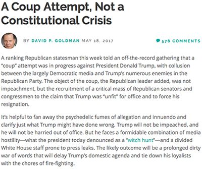 TOP REPUBLICAN: Coup Attempt Against Trump Being Led by GOP Insiders