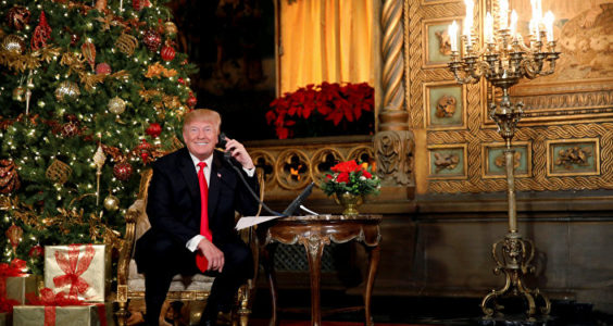 Trump Spent Christmas Eve Personally Thanking Hundreds Of Armed Service Members Around The World.