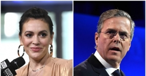 Alyssa Milano: Jeb Bush Must peaceable 'Seriously' Enjoy in tips Tough Trump