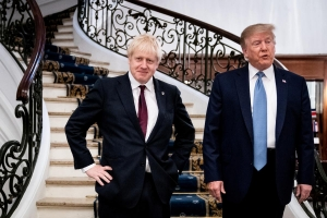 Trump, Johnson discuss Huawei on G7 sidelines