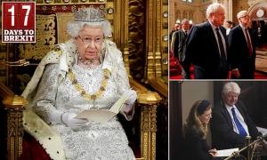 The Queen heads for Parliament to unveil Boris Johnson's plans