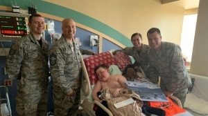 Boy, 11, with terminal brain cancer asks for 'patches and prayers' from military, law enforcement, fire com…