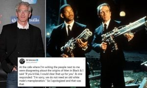 Woman tells Men in Black writer not to 'mansplain' when offering to clear up a film question