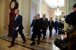 Senate rejects Democrats on documents, witness in Trump impeachment trial