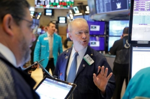 Wall Street bogged down by China virus fears, Intel limits losses