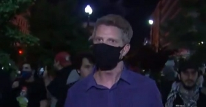 MSNBC's Haake Near White House as St. John's Church Burns: 'This Is Still Peaceful Protesters'