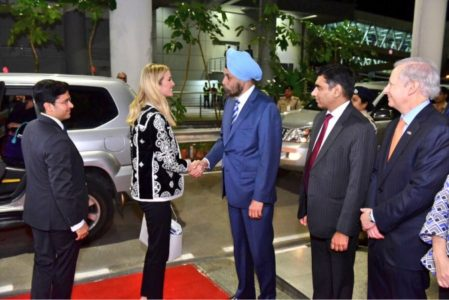 India rolled out the red carpet for Ivanka Trump.