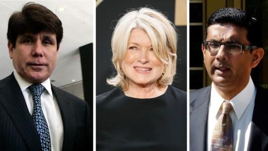 Trump's sudden clemency blitz to clear D'Souza, Martha, Blago.