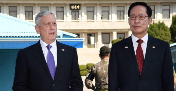 James Mattis Walks Out Onto Kim Jong Un's Doorstep. Here's His Message.
