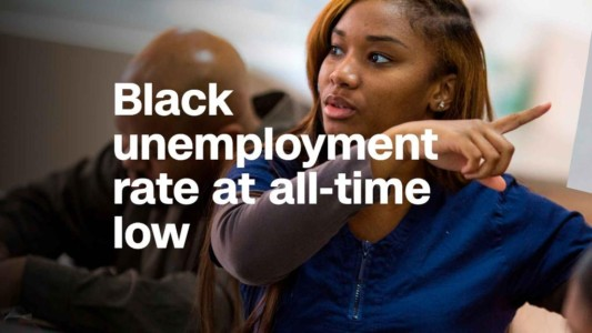 Black, Hispanic unemployment rates hit record lows in April.