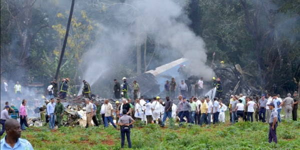 More than 100 killed when Cuban airliner crashes after takeoff.