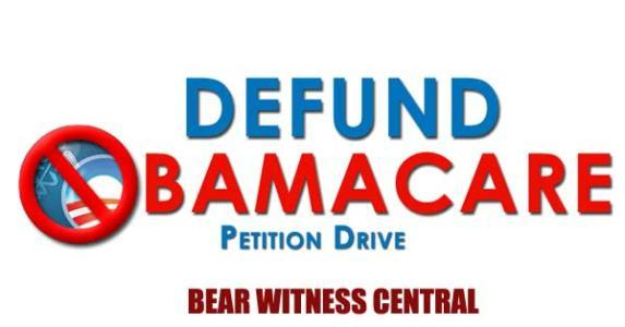 SEND DEFUND OBAMACARE FREE PETITION NOW