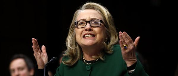 Hillary Clinton testifies on Benghazi. Reuters.