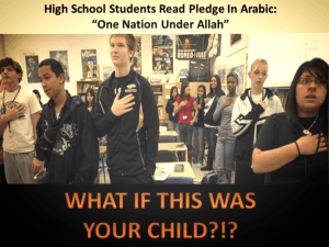Since Obama took office the indoctrination of Islam in our public school system is on the rise
