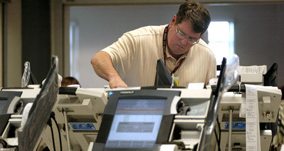 'Calibration issue' pops up on Maryland voting machines