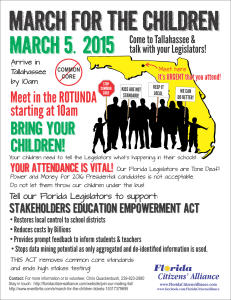 MARCH FOR THE CHILDREN  –  MARCH 5, 2015  –  STOP COMMON CORE