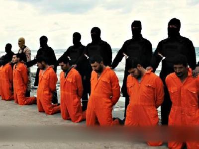 Coptic Christians Hold Orange-Jumpsuit Protest at White House