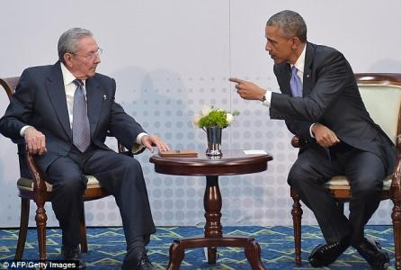 Friends at last? Castro and Obama enjoy historic meeting