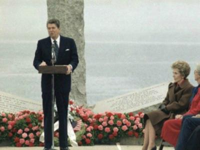 D-Day: Ronald Reagan at Pointe Du Hoc