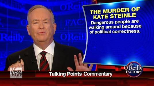 O'Reilly Goes Off on Officials Over Killing of SF Woman: 'The Whole Thing Is Absolutely Disgusting'
