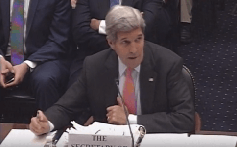 Listen to John Kerry's Response When Democrat Asks If He'll 'Follow the Law' Should Congress Override Veto to Kill Iran Deal