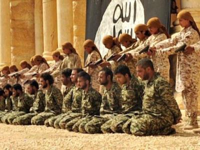 NEW ISIS VIDEOS SHOW CHILD JIHADIS MASSACRING SYRIAN SOLDIERS AT PALMYRA AMPHITHEATER