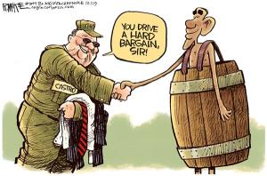 Cuba, the hemisphere's only apartheid and unelected government rewarded with an embassy by Obama