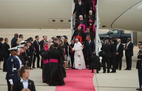 Pope Francis Arrives in U.S. for Historic First Visit
