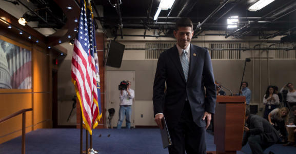 PAUL RYAN Gives Republicans an Ultimatum in Run for Speaker
