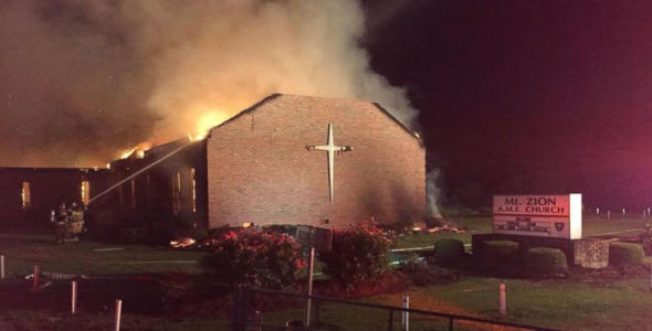 Oooops! Black Man Arrested For Setting Fire to 2 BLACK CHURCHES