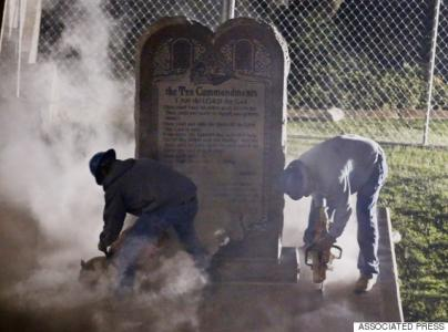 Ten Commandments Removed from Capitol Under Cover of Darkness