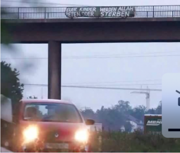 PHOTO: Islamic Immigrants Hang Chilling Message About Children Over Freeway… They MUST Be Stopped