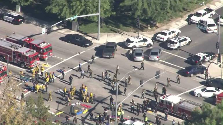 Authorities respond to report of '20 victim shooting' incident in San Bernardino, multiple shooters possible