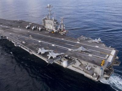 IRAN FIRED UNGUIDED TEST ROCKETS U.S. 1,500 YARDS FROM AMERICAN CARRIER GROUP