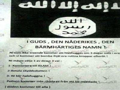 'Convert Or Be Beheaded' – Chilling Message Posted Through Doors Across Sweden