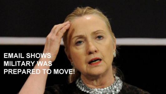 """BREAKING! NEW BENGHAZI EMAIL SHOWS DOD OFFERED STATE DEPARTMENT """"FORCES THAT COULD MOVE TO BENGHAZI"""" IMMEDIATELY!"""