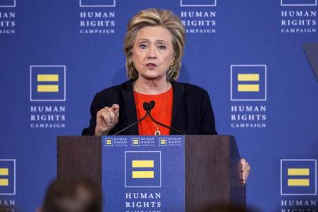 Clinton Picks Up Major Endorsement From Nation's Largest LGBT Organization