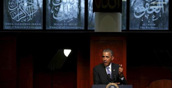 During First Mosque Visit, Obama Explains How 'Islam Has Always Been Part of America'