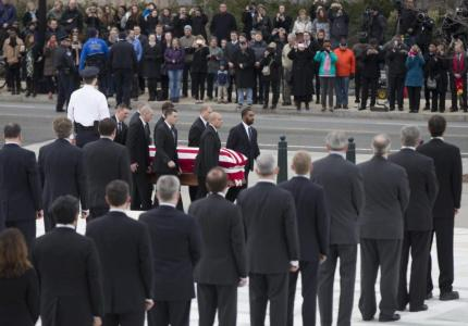 In the Cold for Hours, Thousands Pay Final Respects to Justice Antonin Scalia