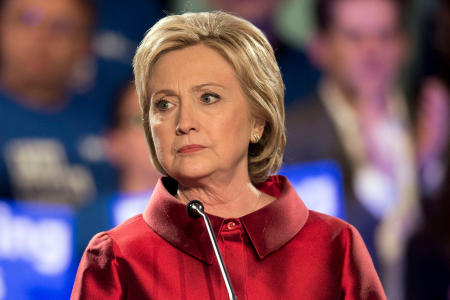 Feb. 20, 2016 - Las Vegas, Nevada, U.S. - HILLARY CLINTON speaks at Caesars Palace after her victory in the Nevada Democratic Caucus. Clinton says she is not convinced she lost Hispanic vote in Nevada.(Credit Image: © Brian Cahn via ZUMA Wire)