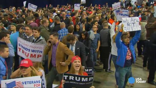 Trump cancels rally in Chicago as violence erupts