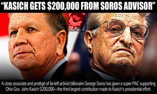 REPORT: Soros Money Funding John Kasich's Presidential Bid