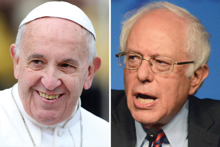 Pope invites Bernie to the Vatican….for an INSANE reason