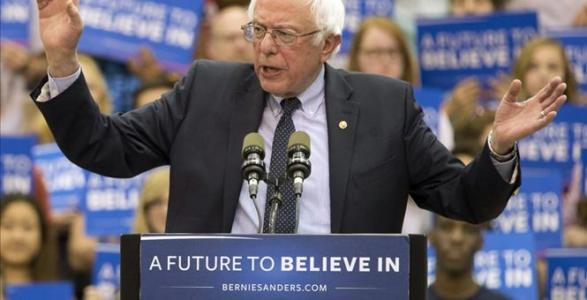 Sanders Pushes Hillary Far to The Left