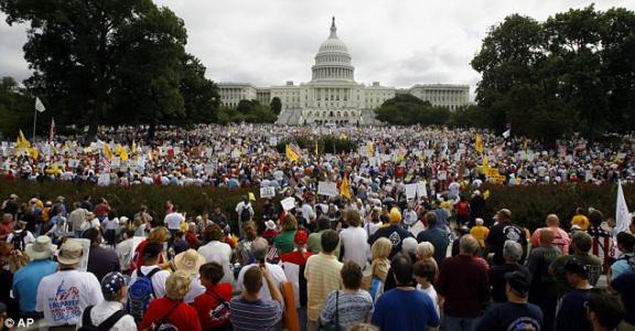TEA PARTY PROTEST IN WASHINGTON DC