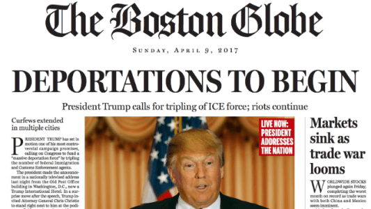 Boston Globe rips Trump with fake front page