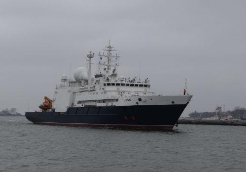 The Russian research ship Yantar