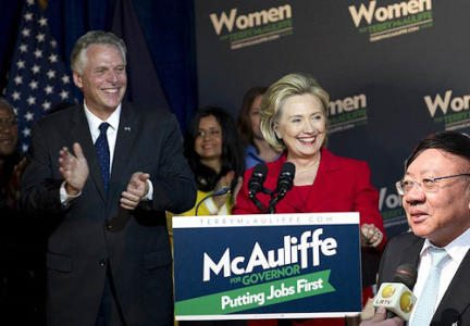 Hillary-campaigns-for-McAuliffe